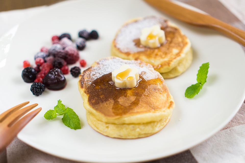 アーモンドミルクの天然酵母パンケーキ