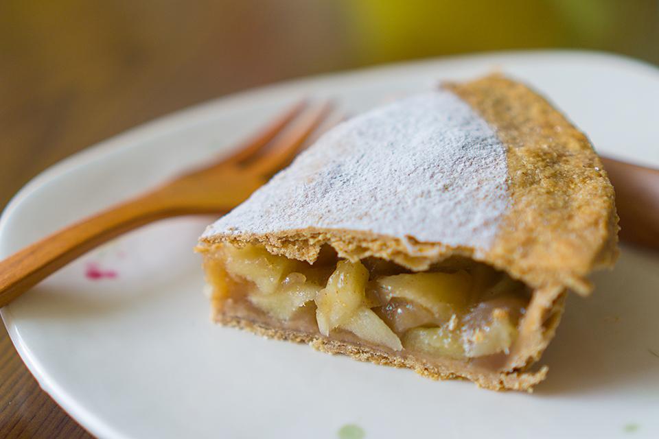 オーストリアの小麦粉で作ったアメリカンアップルパイ