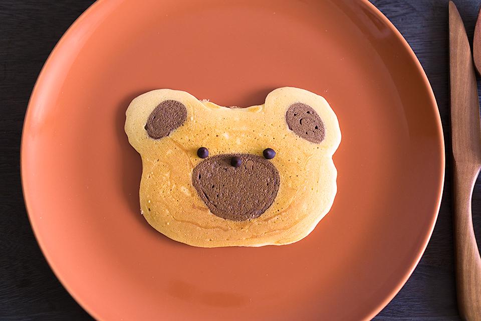 くまの絞り出しパンケーキ