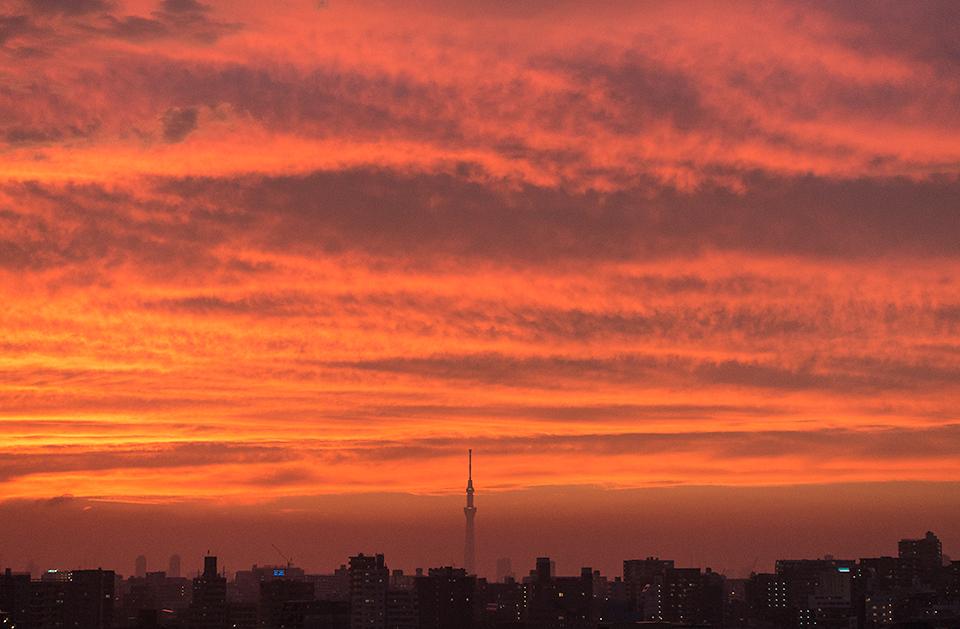 情熱的な夕焼け空