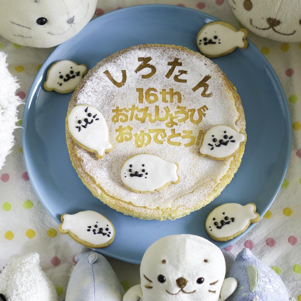 しろたん16回目のお誕生日チーズケーキ