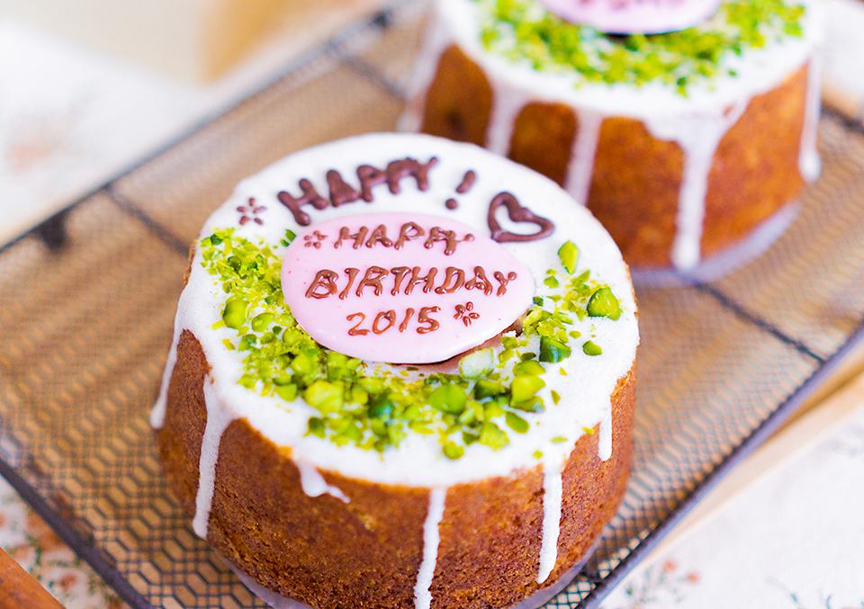 ミニクグロフのバースデーケーキ