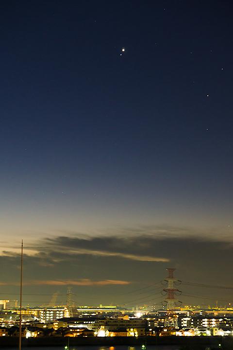 金星と土星が大接近!